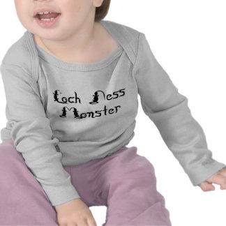 Loch Ness Monster Text Shirt