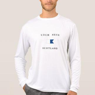 Loch Ness Scotland Alpha Dive Flag Tshirt