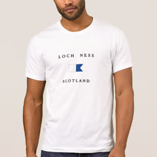 Loch Ness Scotland Alpha Dive Flag T Shirt