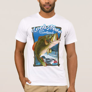 Loch Ness Scotland Fishing travel poster T-Shirt