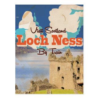 Loch Ness Vintage Travel poster Postcard