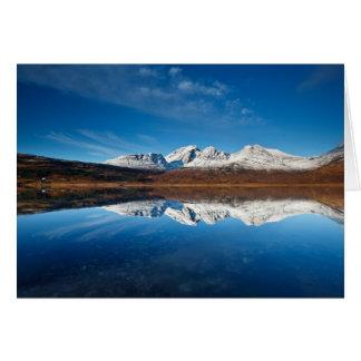 Loch Slapin - winter calm Card