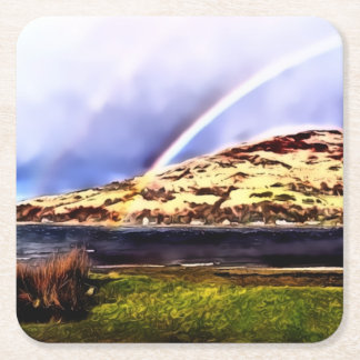 Lochranza & Rainbow Square Coasters