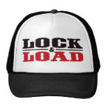 Lock and Load - Black and Red Cap