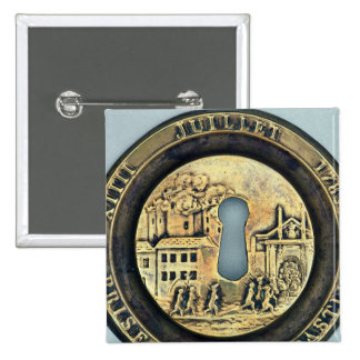 Lock depicting the Siege of the Bastille 15 Cm Square Badge
