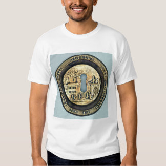 Lock depicting the Siege of the Bastille Tee Shirt