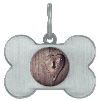 Lock Heart Pet Tag
