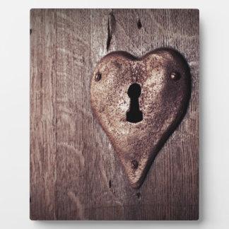 Lock Heart Photo Plaque