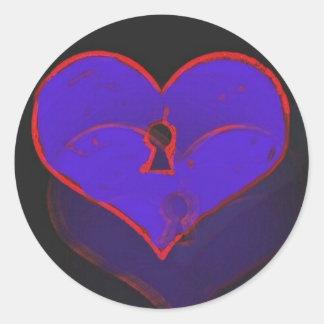 lock heart sticker