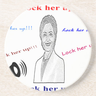 Lock her up sandstone coaster