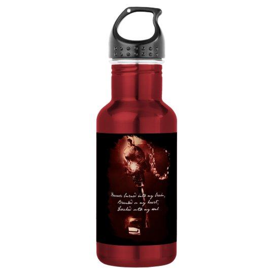 Lock & Key Water Bottle (18 oz), Red