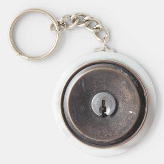 """Lock"" keychain. Basic Round Button Key Ring"