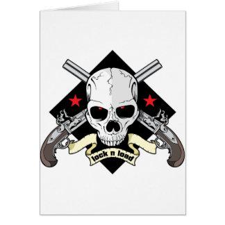 Lock n Load Skull Card