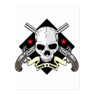 Lock n Load Skull Postcard