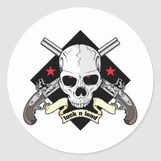 Lock n Load Skull Sticker
