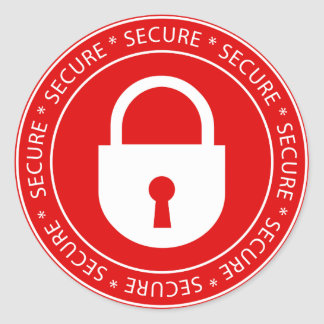 Lock Secure Sign Sticker