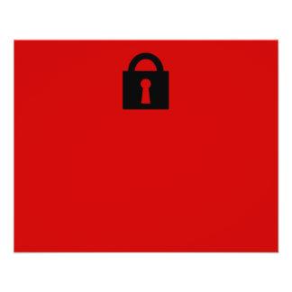 Lock. Top Secret or Confidential Icon. 11.5 Cm X 14 Cm Flyer