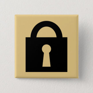 Lock. Top Secret or Confidential Icon. 15 Cm Square Badge
