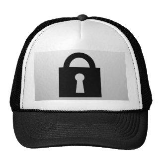 Lock. Top Secret or Confidential Icon. Cap
