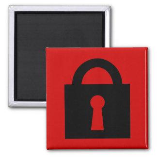 Lock. Top Secret or Confidential Icon. Magnet