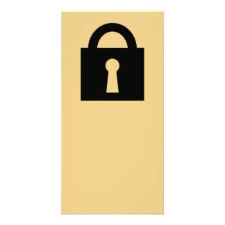 Lock. Top Secret or Confidential Icon. Personalised Photo Card