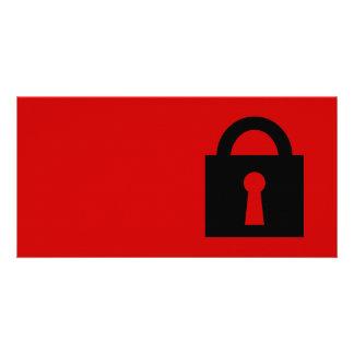 Lock. Top Secret or Confidential Icon. Custom Photo Card