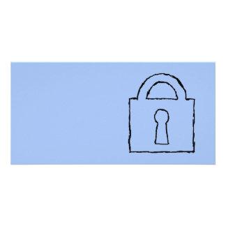 Lock. Top Secret or Confidential Icon. Photo Card