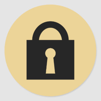 Lock. Top Secret or Confidential Icon. Round Sticker