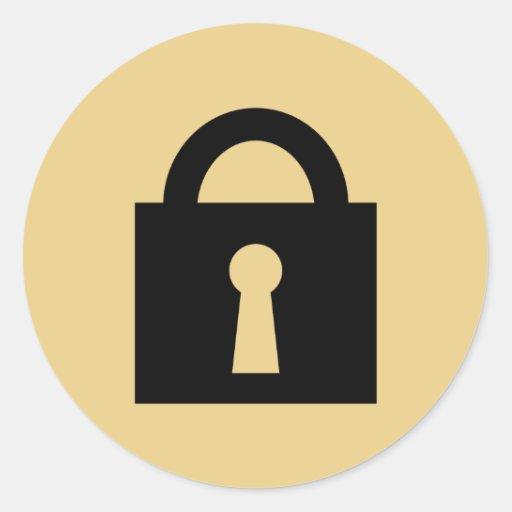 Lock. Top Secret or Confidential Icon. Sticker