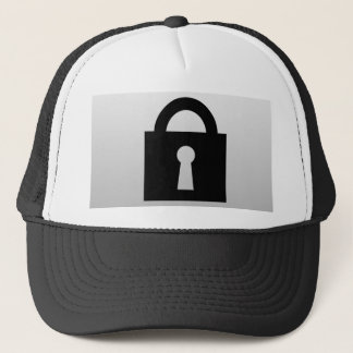 Lock. Top Secret or Confidential Icon. Trucker Hat