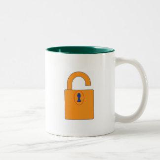 Lock Two-Tone Coffee Mug