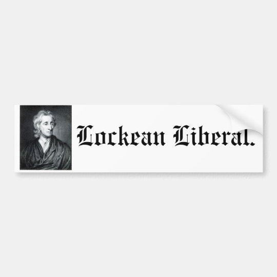 Lockean Liberal bumper sticker