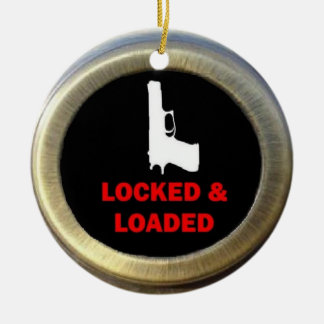 Locked and Loaded Gun Christmas Ornament