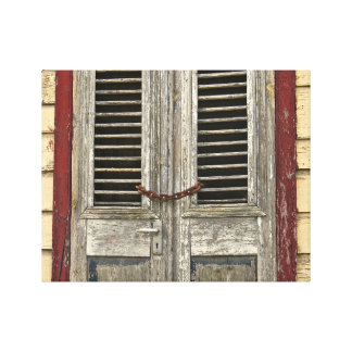 Locked Door - Old Door - Caribbean House Canvas Print