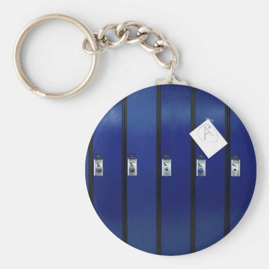 Locker Doors Basic Round Button Key Ring