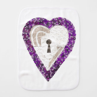 Locker Heart Burp Cloth