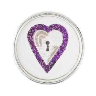 Locker Heart Lapel Pin