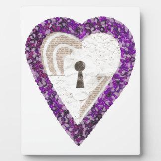 Locker Heart on an Easel Plaque
