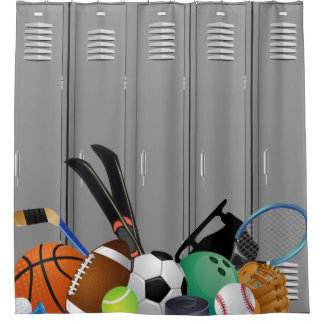 Locker Room Design Shower Curtain