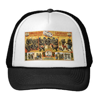 Lockhart Elephant Comedians Vintage Circus Act Hats