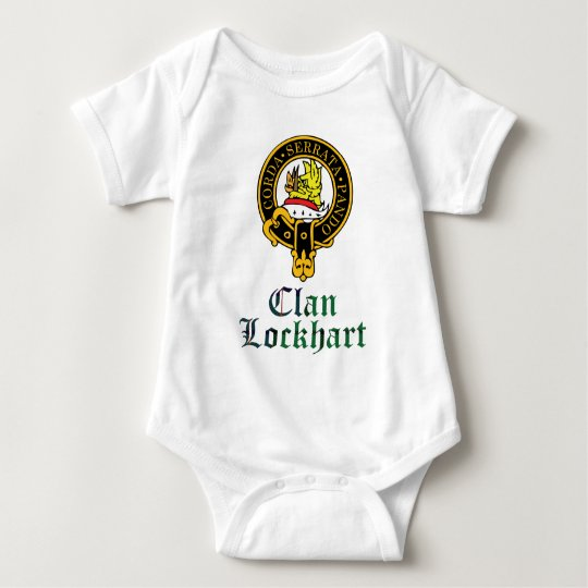 Lockhart scottish crest and tartan clan name baby