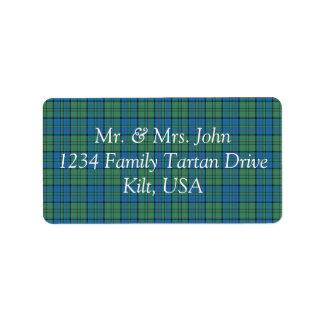 Lockhart Tartan Label Address Label