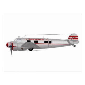 Lockheed 12A Electra Postcard