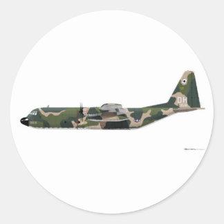 Lockheed C-130 Hercules Vietnam Classic Round Sticker