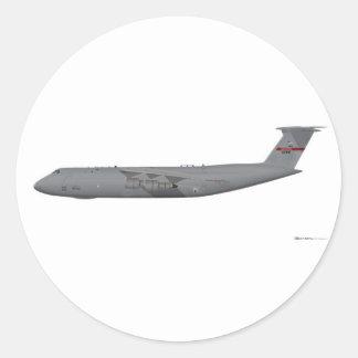 Lockheed C-5 Galaxy Round Sticker