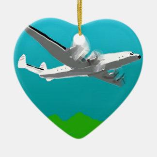 Lockheed Constellation Ceramic Heart Decoration