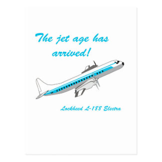 Lockheed Electra L-188 Postcard