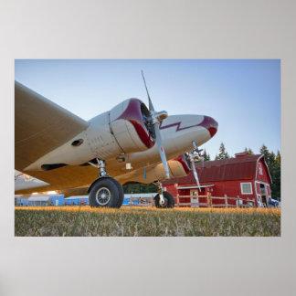 Lockheed Electra Red Barn Print