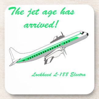 Lockheed Electra Vintage Aircraft Coasters