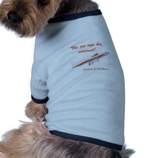 Lockheed Electra Vintage Aircraft Dog T Shirt